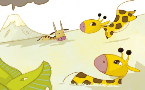 olivier huette illustrateur girafe Éditions Larousse
