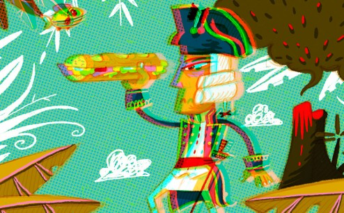 anaglyphe capitaine Cook