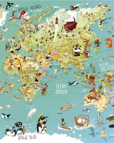 Carte du monde vilac