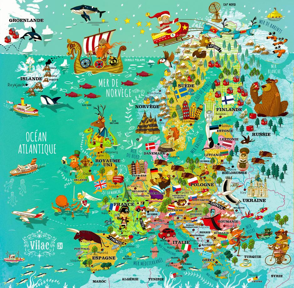 Carte de l'Europe   Olivier Huette